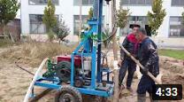 HF260D diesel engine hydraulic drilling rig with integrated centrifugal mud pump